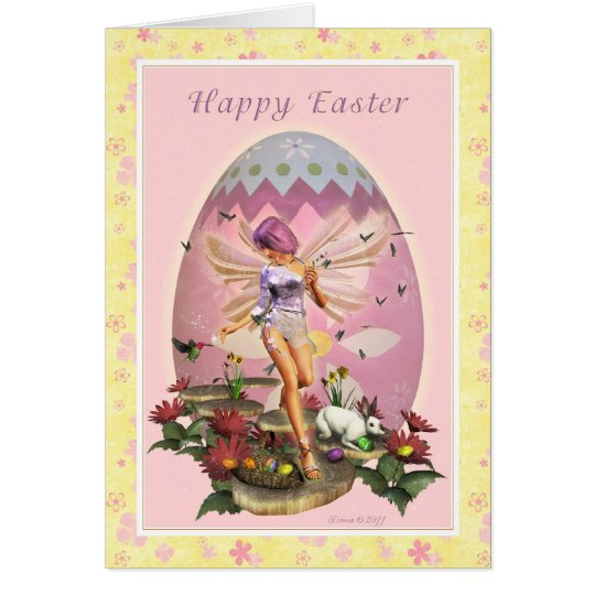 Happy Easter - Easter Fairy Card