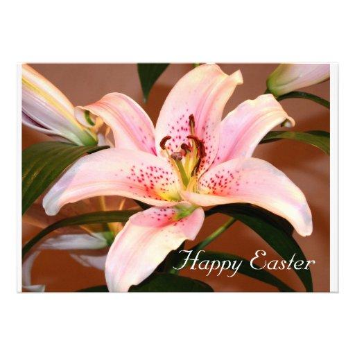 Happy Easter - Easter Lilly Custom Invites