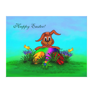 Happy Easter! Easter Rabbit Canvas Print