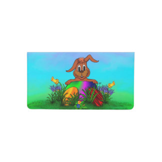 Happy Easter! Easter Rabbit Checkbook Cover