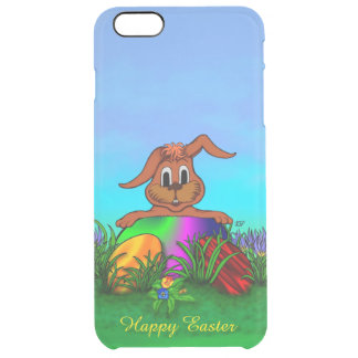 Happy Easter! Easter Rabbit Clear iPhone 6 Plus Case