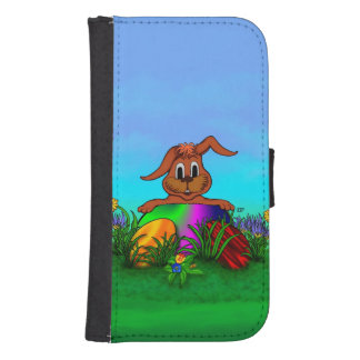 Happy Easter! Easter Rabbit Galaxy S4 Wallet Case