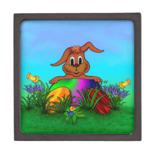 Happy Easter! Easter Rabbit Jewelry Box