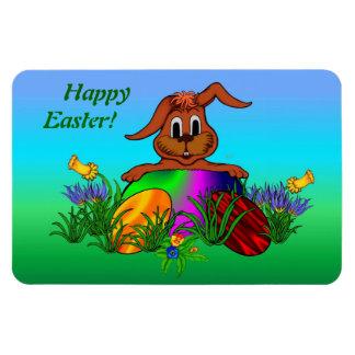 Happy Easter! Easter Rabbit Rectangular Photo Magnet