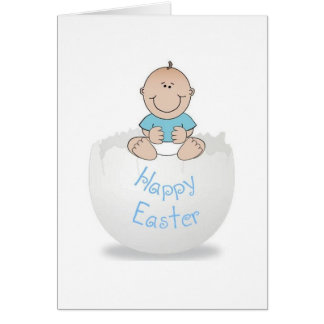 Happy Easter Egg Baby Boy Card