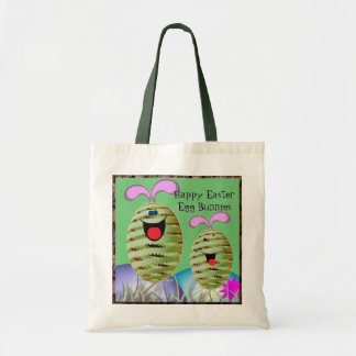 Happy Easter Egg Bunnies Canvas Bags