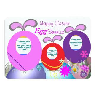 Happy Easter Egg Bunnies Card