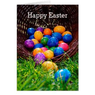 Happy Easter Egg Hunt Basket Photo Card