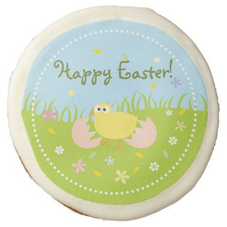 Happy Easter Egg Hunt Party Cute Baby Chick Sugar Cookie