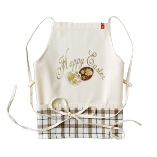 Happy Easter Egg - Russian Folk Art - 6 Zazzle HEART Apron