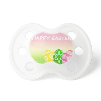 Happy Easter Eggs Baby Pacifier