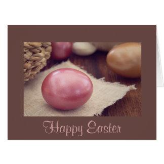 Happy Easter Eggs Basket Card