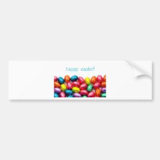 Happy Easter Eggs Bumper Sticker