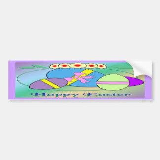 Happy Easter Eggs Car Bumper Sticker
