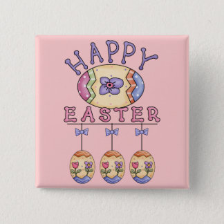 Happy Easter Eggs Button