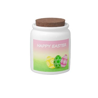 Happy Easter Eggs Candy Jars