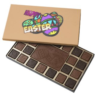 Happy Easter Eggs Chocolate Box Customizable