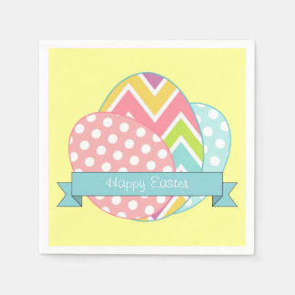 Happy Easter Eggs Holiday Napkins