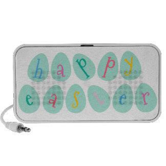 Happy Easter Eggs in Aqua Notebook Speakers