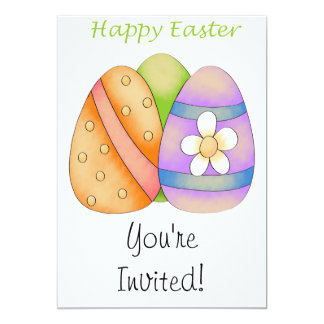 Happy Easter Eggs Personalized Announcement