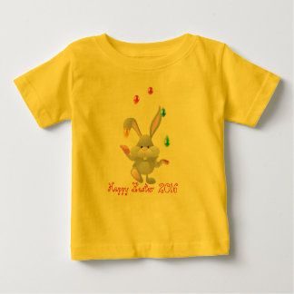 Happy Easter eggs juggling bunny design Customize Baby T-Shirt
