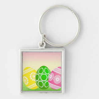 Happy Easter Eggs Keychain