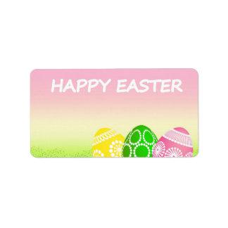 Happy Easter Eggs Label