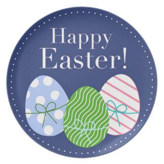 Happy Easter Eggs Melamine Plate