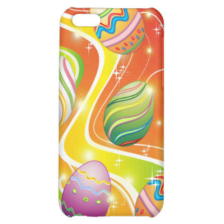 Happy Easter Eggs Ornamental Design iPhone 5C Covers