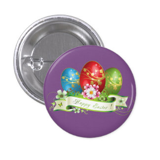 Happy Easter Eggs Pinback Button