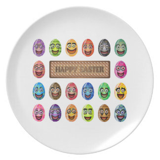 Happy Easter Eggs Dinner Plates