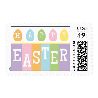 Happy Easter Eggs Postage Stamp