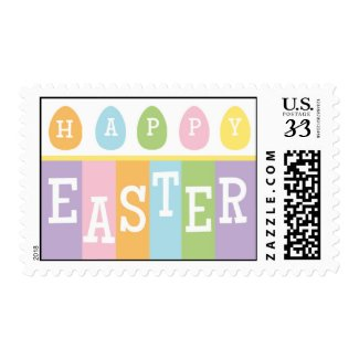 Happy Easter Eggs Postcard Stamp
