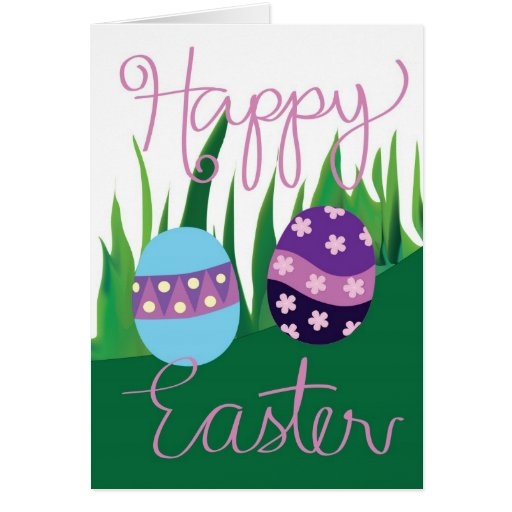 Happy Easter Eggs Psyanky Greeting Card