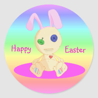 Happy Easter feat Lil Cushy Classic Round Sticker
