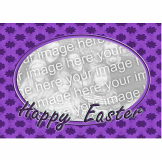 Happy Easter floral photo frame Statuette
