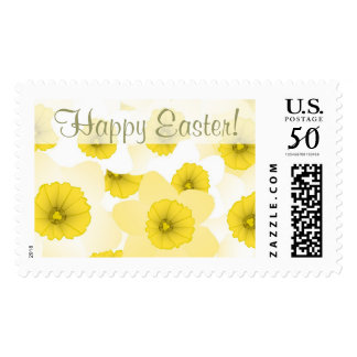 Happy Easter Floral Postage Stamp