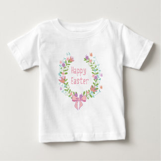Happy Easter, floral wreath Baby T-Shirt