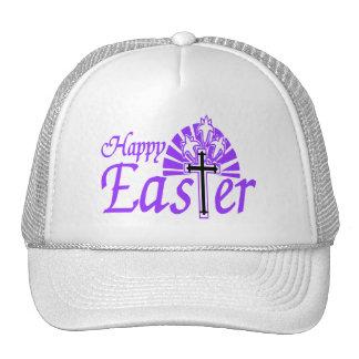 Happy Easter Flowers & Cross Trucker Hat