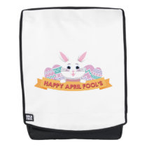 Happy Easter Fools Day April 1 2018 Backpack