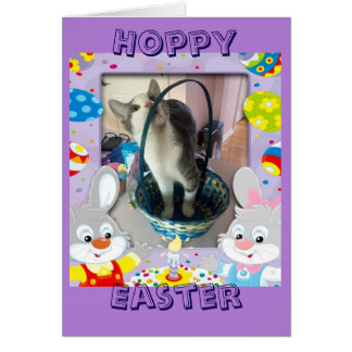 Happy Easter for a cat lover Card