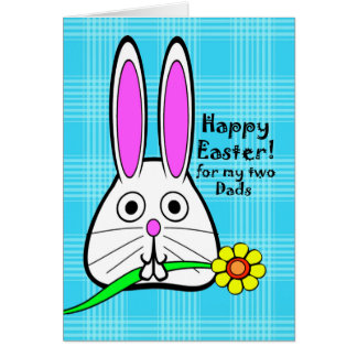 Happy Easter for My Two Dads, Cute Rabbit Card