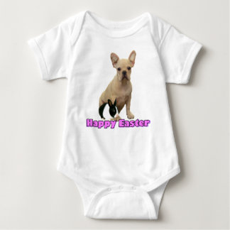 Happy Easter French bulldog baby T-shirt