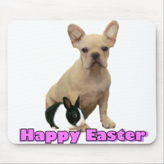 Happy Easter French bulldog mousepad