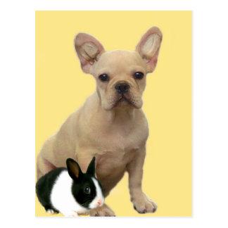 Happy Easter French bulldog postcard