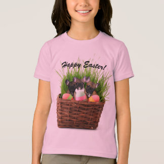 Happy Easter French bulldog puppies girls shirt
