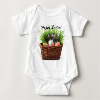 Happy Easter French bulldog puppies infant creeper