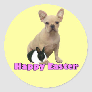 Happy Easter French bulldog stickers