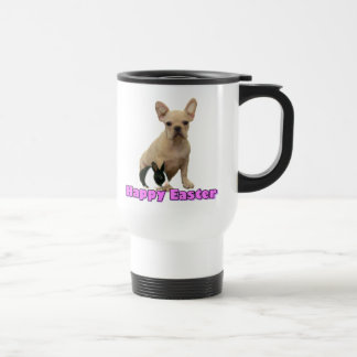 Happy Easter French bulldog travel mug