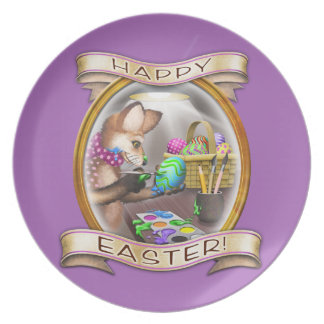 Happy Easter - Frieda Tails collectible plate